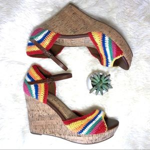 MIA Rainbow Pride Festival crochet macrame cork